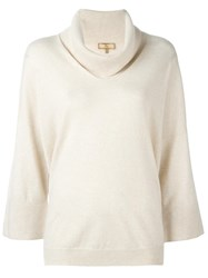 Fay Roll Neck Jumper Nude Neutrals