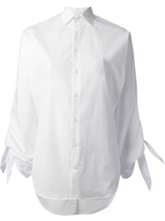 Ralph Lauren Black Tie Sleeved Shirt White