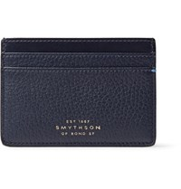 Smythson Burlington Full Grain Leather Cardholder Navy