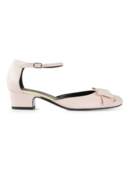 Michel Vivien Ankle Strap Ballerinas Pink And Purple
