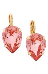 L. Erickson Women's 'Scarlett' Teardrop Earrings Rose Peach Gold