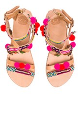 Elina Linardaki Gipsy Spell Leather Sandals In Neutrals Neon