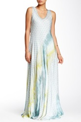 Biya Print Silk Sleeveless Maxi Dress Multi