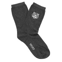 Kenzo Women's Tiger Heads Socks Grey