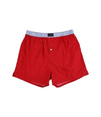 Tommy Hilfiger Woven Boxer Flag Mahogany Men's Underwear