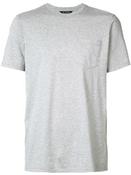 Wings Horns Pocket T Shirt Grey