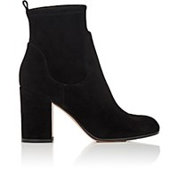 Gianvito Rossi Women's Chunky Heel Suede Ankle Boots Black