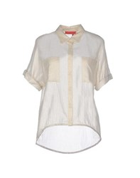 Manila Grace Denim Shirts Shirts Women Beige