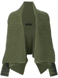 Haider Ackermann Ribbed Shrug Cardigan Green