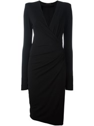 Alexandre Vauthier V Neck Midi Dress Black