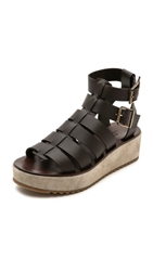 A.P.C. Cesar Sandals Marron Fonce