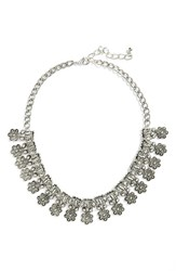 Junior Women's Leith Ornate Statement Necklace Silver