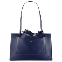 Radley Hardwick Leather Medium Tote Bag Navy