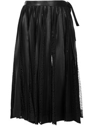 Jonathan Cohen Ruched Lace Detail Skirt Black