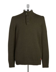 Strellson Mockneck Sweater Dark Green
