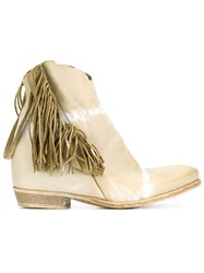 Cinzia Araia Fringed Ankle Boots Nude And Neutrals