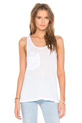 Bobi Tissue Jersey Scoop Neck Front Pocket Tank Pink