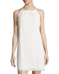 Max Studio Sleeveless Lace Shift Dress W Ribbon Tie Women's