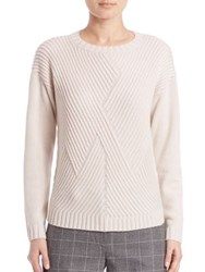 Peserico Zig Zag Front Knit Sweater Cream