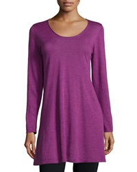 Eileen Fisher Long Sleeve A Line Jersey Tunic