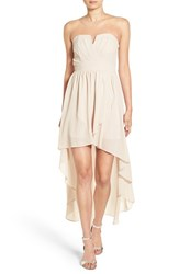 Tfnc Women's 'Thalia' Strapless High Low Dress Cream
