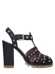Red Valentino 105Mm Star Studded Leather Sandals