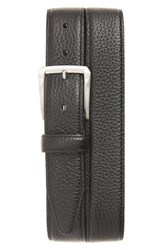 Nordstrom Men's Big And Tall Men's Shop Pebbled Leather Belt Black