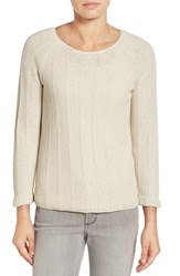 Nic Zoe Women's 'Pop Top' Scoop Neck Sweater Rainy Day
