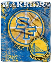 Northwest Company Golden State Warriors Raschel Shadow Blanket Blue