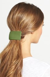 L. Erickson Large Rectangle Barrette Green South Beach Lime