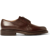 Cheaney Deal Burnished Pebble Grain Leather Derby Shoes Dark Brown