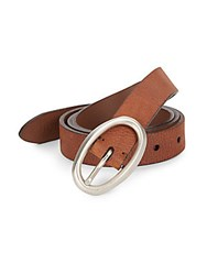 Brunello Cucinelli Pebbled Leather Belt Brown