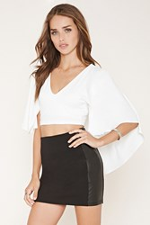 Forever 21 Cape Overlay Crop Top