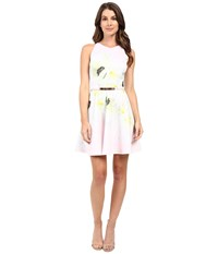 Ted Baker Tuliaa Pearly Petal Placement Skater Dress Nude Pink Women's Dress