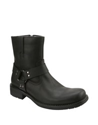 Gbx Barraco Leather Moto Boots Black