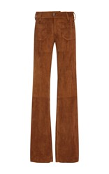 Seafarer Cognac Mid Rise Trousers Brown