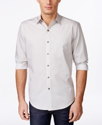 Tasso Elba Men's Diamond Dot Long Sleeve Shirt Only At Macy's Taupe Combo