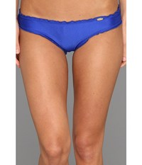 Luli Fama Cosita Buena Full Ruched Back Bikini Bottom Electric Blue Women's Swimwear