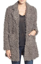 Women's Steve Madden Faux Fur Coat Grey