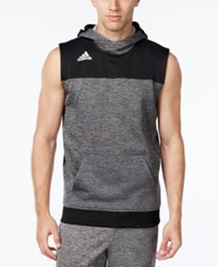 Adidas Men's Colorblocked Sleeveless Hoodie Black