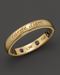 Monica Rich Kosann 18K Yellow Gold Carpe Diem Posey Ring With Sapphires Gold Blue
