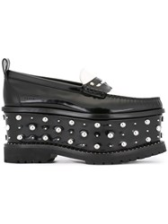 Givenchy Wedge Platform Loafers Black