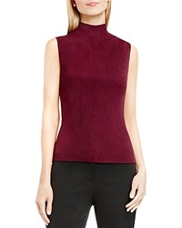 Vince Camuto Ribbed Mock Neck Knit Tank Raisin