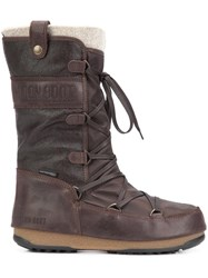 Moon Boot 'We Monaco Mix' Boots Brown