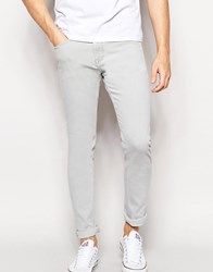New Look Skinny Fit Jeans In Grey Light Grey
