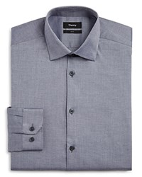 Theory Solid Slim Fit Dress Shirt Grey