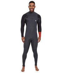 Billabong 403 Revolution Tribong Short Sleeve Chest Zip Wetsuit Rust Men's Wetsuits One Piece Red