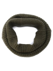 Neil Barrett Ribbed Knit Snood Green