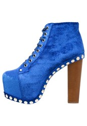 Jeffrey Campbell Platform Boots Dark Blue Navy