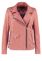 Missguided Faux Leather Jacket Rose